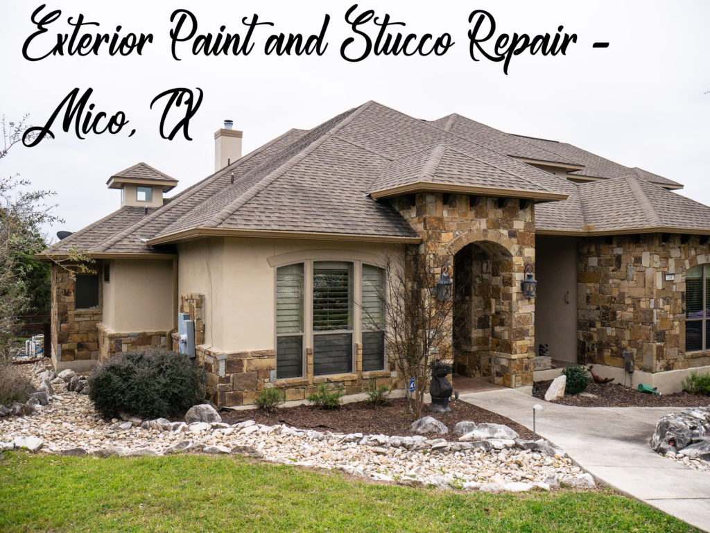 Exterior Paint And Stucco Repair Mico Tx Hendrick Painting Commercial And Residential Painters Serving San Antonio Texas The Dominion And Castroville